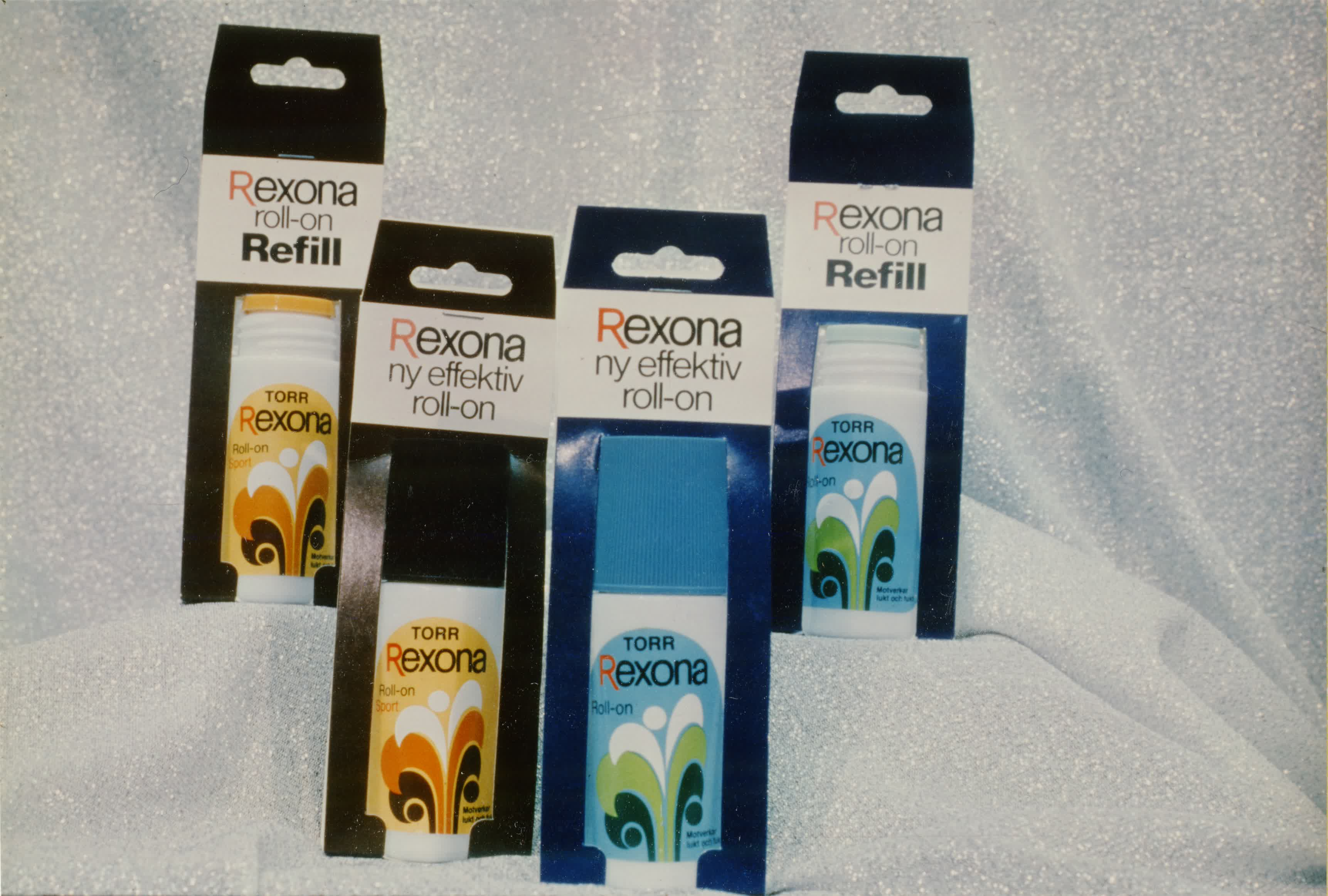 Transpirationsmedel. Rexona 33 ml. Roll-on grön, Roll-on sport.